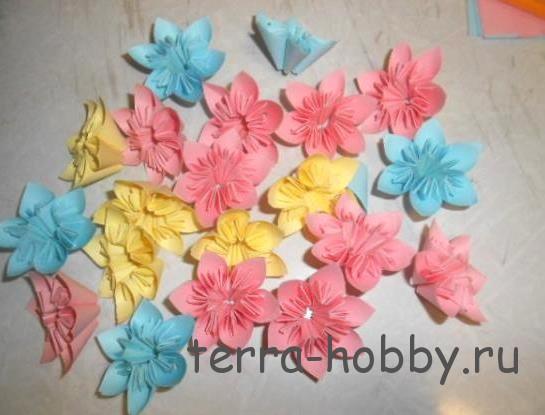 цветы кусудама