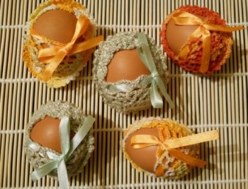 Миниатюра к статье Сувенир своими руками: вязаная корзина крючком для пасхальных яиц