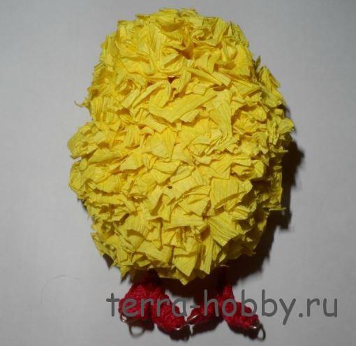 цыпленок из бумаги в технике торцевание
