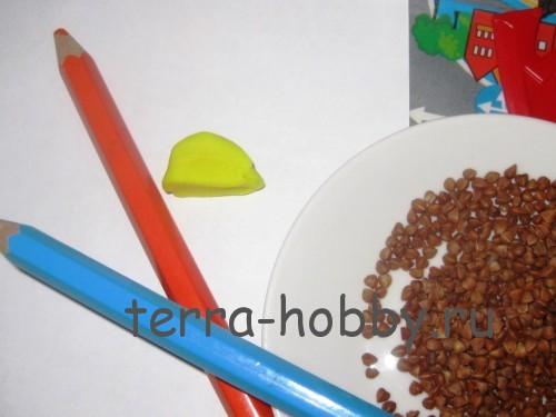 материалы для ежика из круп