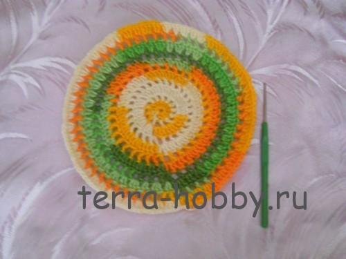 вязание прихватки по кругу