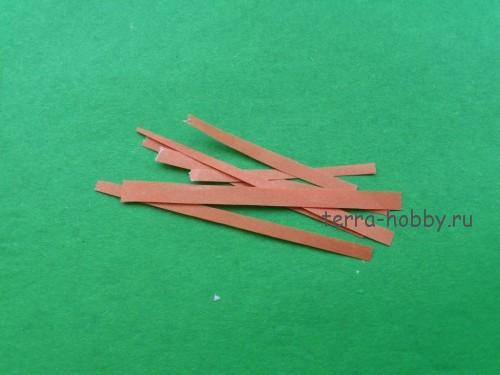 нарезать полоски для веток
