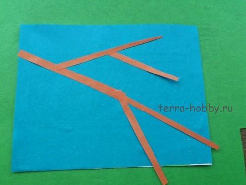 приклеить полоски к открытке