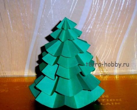 простая елка из бумаги