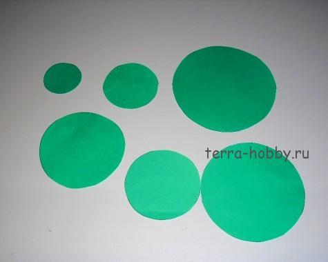 круги из бумаги для елки