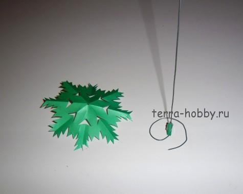 каркас для елки из бумаги