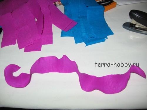 заготовка для цветов из гофрированной бумаги
