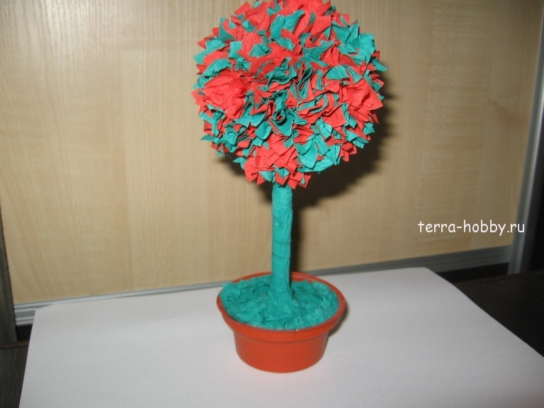 Из гофрированной бумаги своими руками дерево счастья