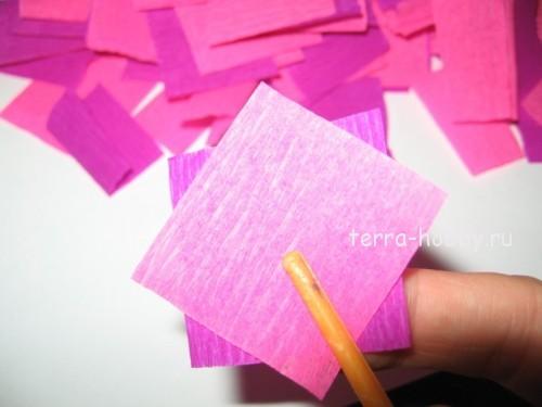 цветочки из бумаги