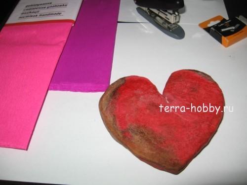 сделать из пластилина сердце