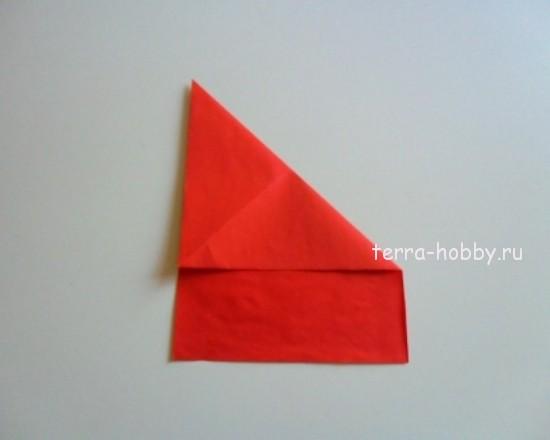 сложить по диагонали лист
