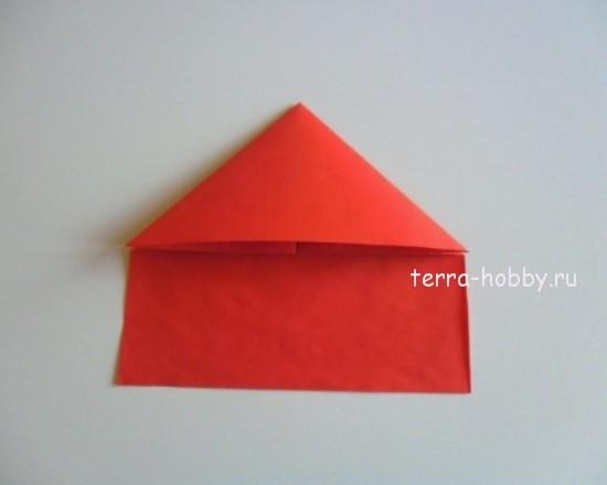 вид заготовки из бумаги