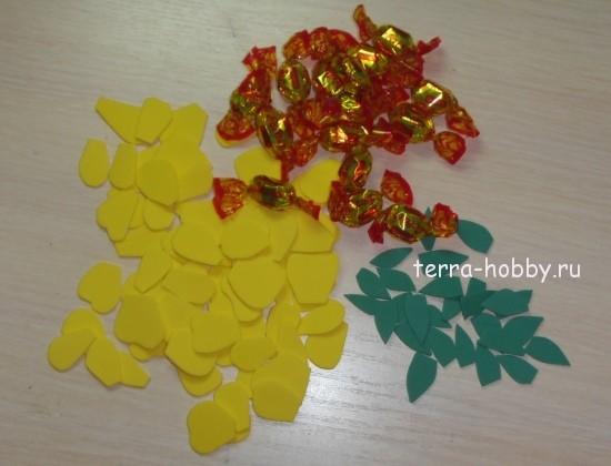 украшение из конфет