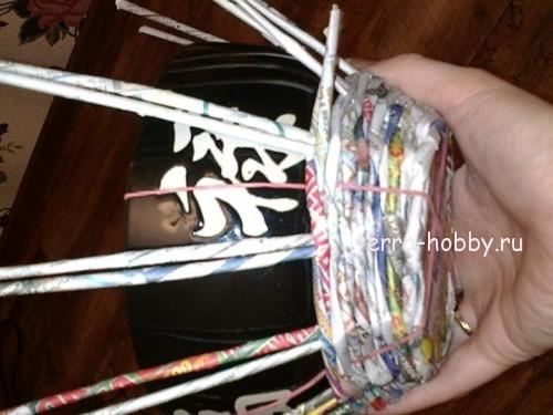 плетение конфетницы