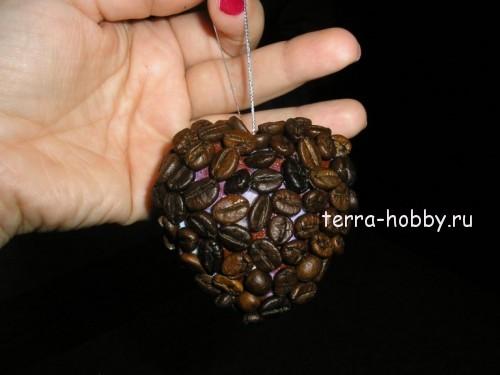 Топиарий из кофе сердце своими руками