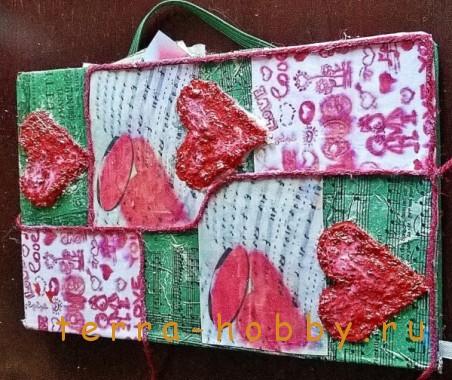 украсить блокнот сердечками