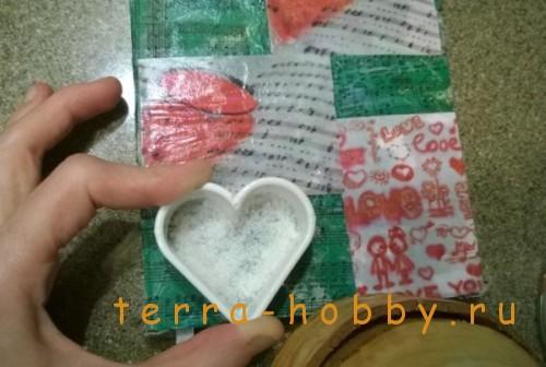сердечки из соленого теста