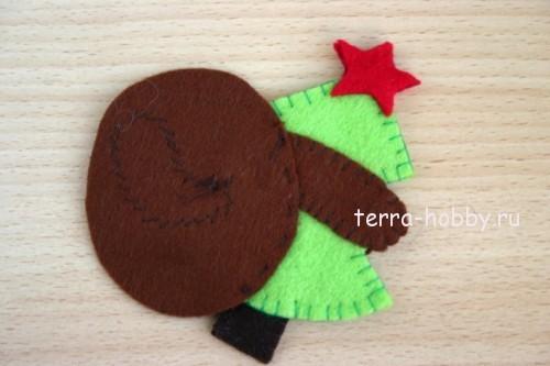 сшить новогодние игрушки из фетра