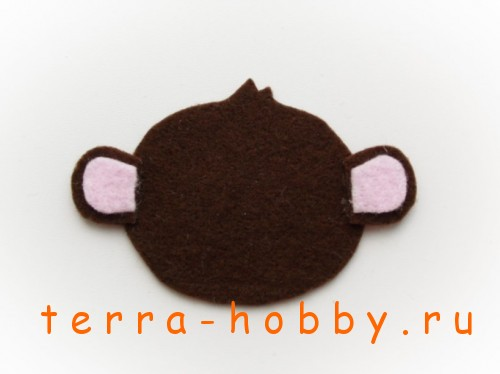 обезьянка из фетра 19
