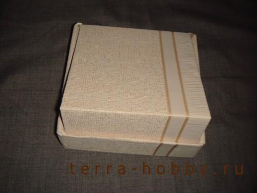 обклеить коробку бумагой