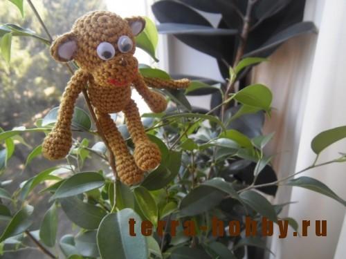 связать обезьяну амигуруми