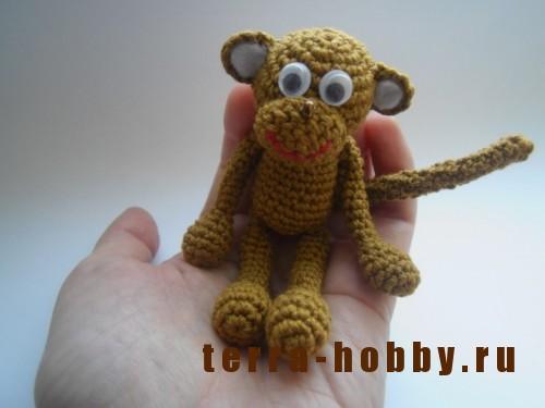обезьяна амигуруми крючком