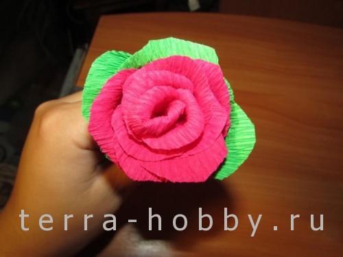 роза из бумаги 18