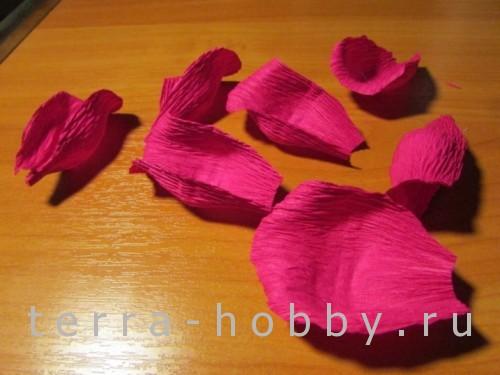 роза из бумаги 3