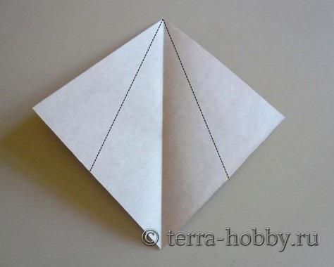 обезьяна оригами из бумаги1