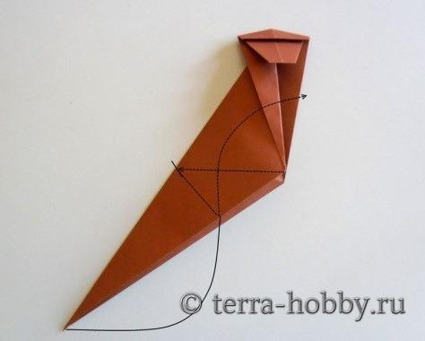 обезьянка оригами 12