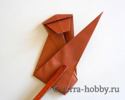 обезьянка оригами 13