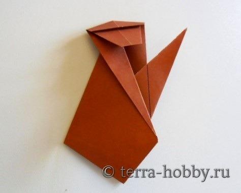 обезьянка оригами 15