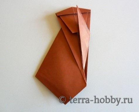 обезьянка оригами 16