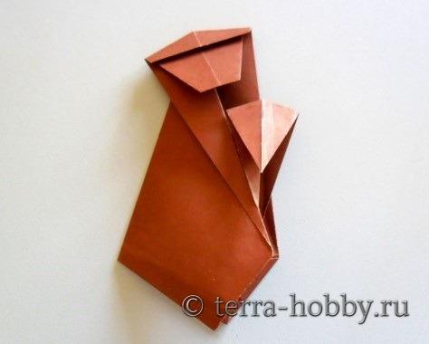 обезьянка оригами 17