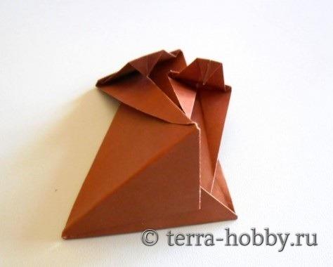обезьянка оригами 19