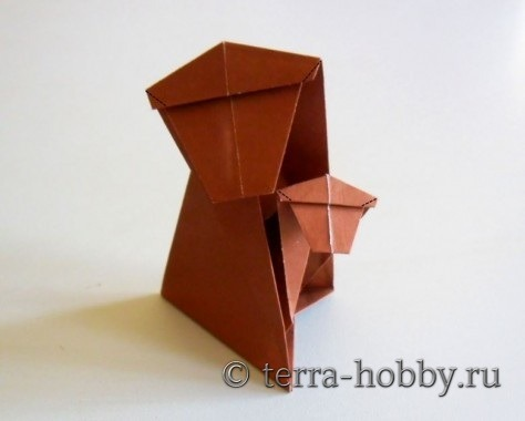 обезьянка оригами 20