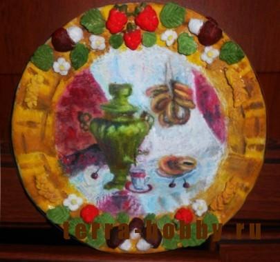 тарелка из соленого теста своими руками