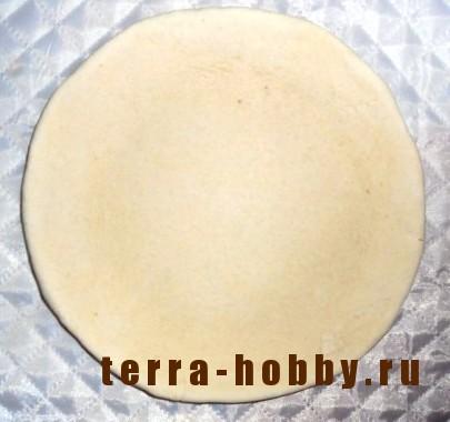 основа тарелки из соленого теста