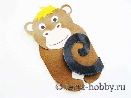 открытка обезьянка