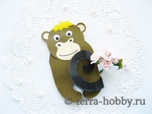 открытка обезьяна