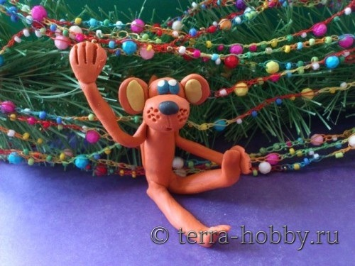 обезьянка из пластилина своими руками