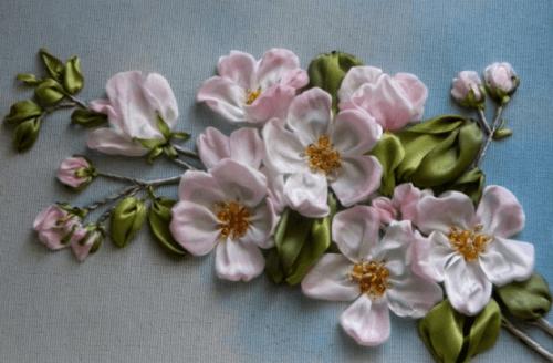 ленты вышивка