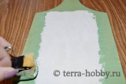 закрасить участки доски под кракелюр