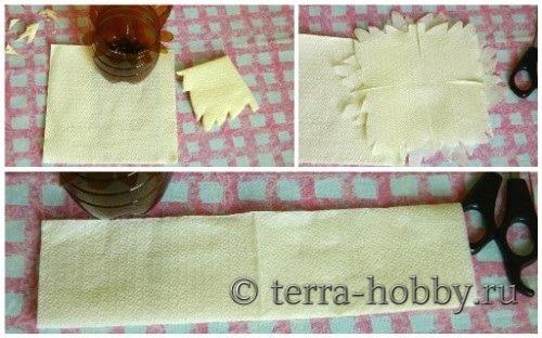 декор из салфетки для пасхальной корзинки