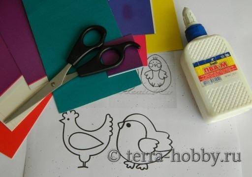 материалы для пасхальной открытки