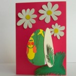 Открытка «С Пасхой» из цветного картона