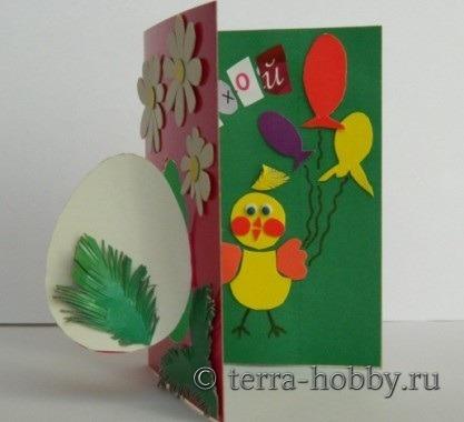 открытка с пасхой своими руками