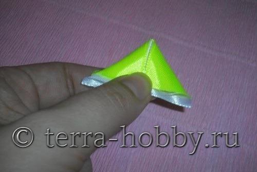 сложить ленты треугольник