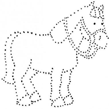 вышивка по картону лошадка