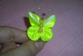 Миниатюра к статье Бабочка в технике канзаши